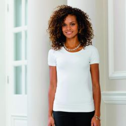 Women's short sleeve stretch top Thumbnail
