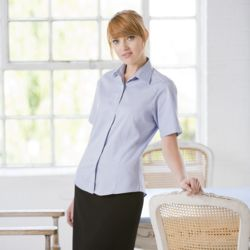 Women's short sleeved lightweight Oxford Thumbnail