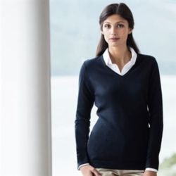 Women's 12 gauge v-neck jumper Thumbnail