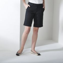 Women's Teflon®-coated flat fronted chino shorts Thumbnail