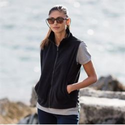 Women's sleeveless microfleece jacket Thumbnail