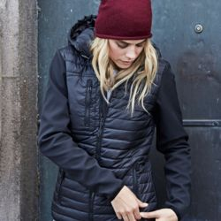 Tee Jays Womens Hooded Crossover Jkt Thumbnail