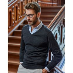 Tee Jays Mens V Neck Knitted Sweater Thumbnail