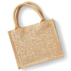 Shimmer jute mini gift bag Thumbnail