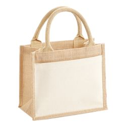 Cotton pocket jute gift bag Thumbnail