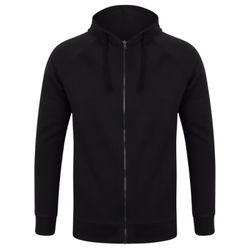 Unisex slim-fit zip-through hoodie Thumbnail
