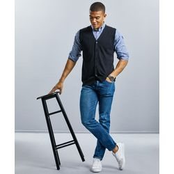 Russell V-neck sleeveless knitted cardigan Thumbnail