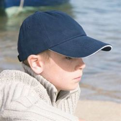 Result jJnior low profile heavy brushed cotton cap with sandwich peak Thumbnail