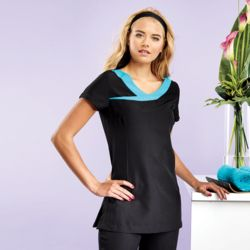 Ivy beauty and spa tunic contrast neckline Thumbnail