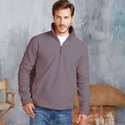 Enzo zip-neck microfleece top Thumbnail