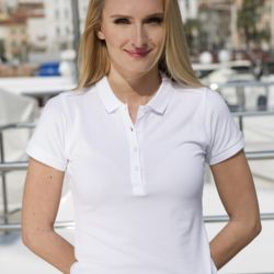 Russell Cotton Ladies' stretch polo Thumbnail