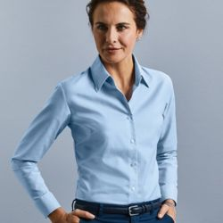 Women's long sleeve easycare Oxford shirt Thumbnail