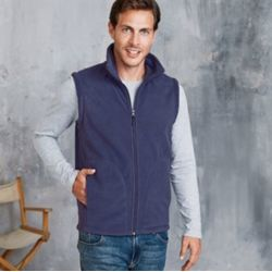 Luca zip-through microfleece gilet Thumbnail