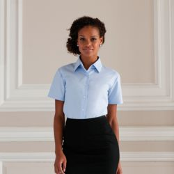 Women's short sleeve Oxford shirt Thumbnail
