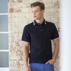 Henbury Double tipped collar and cuff polo shirt Thumbnail