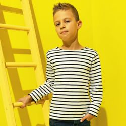 Kids Marinière coastal long sleeve tee Thumbnail