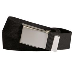 Classic Military Belt with Silver Buckle Thumbnail