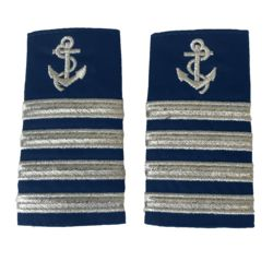 Captain's Anchor Epaulettes Four Stripe Various Colours Thumbnail