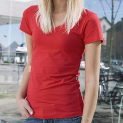 Clique Ladies Arden V-Neck Short Sleeve T-Shirt Thumbnail