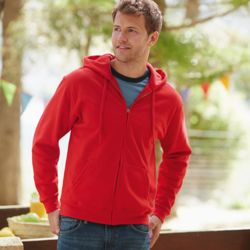 Fruit of the Loom Classic Hooded Sweatshirt Jacket Thumbnail