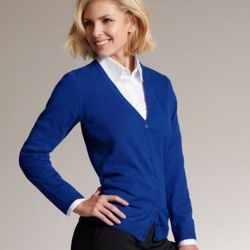 James Nicholson Ladies Cotton Cardigan Thumbnail