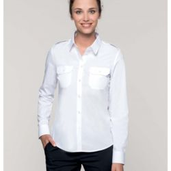 Kariban Ladies Long Sleeve Pilot Shirt  Thumbnail