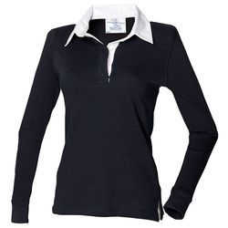 Front Row Ladies Long Sleeve Rugby Polo Thumbnail