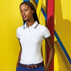 Women's classic fit tipped polo Thumbnail