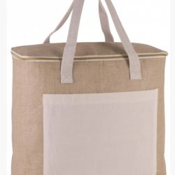 Jute and Cotton Cool Bag Thumbnail