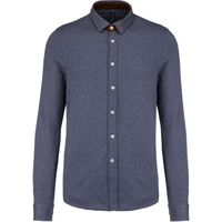 Kariban Long-sleeved Jacquard knit shirt Thumbnail