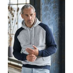 Tee Jays Mens Two-Tone Hooded Sweat Thumbnail