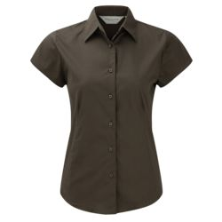 Russell Women's short sleeve easycare fitted stretch shirt - 947F Thumbnail