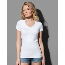 Claire ladies V-neck short sleeve T-shirt Thumbnail